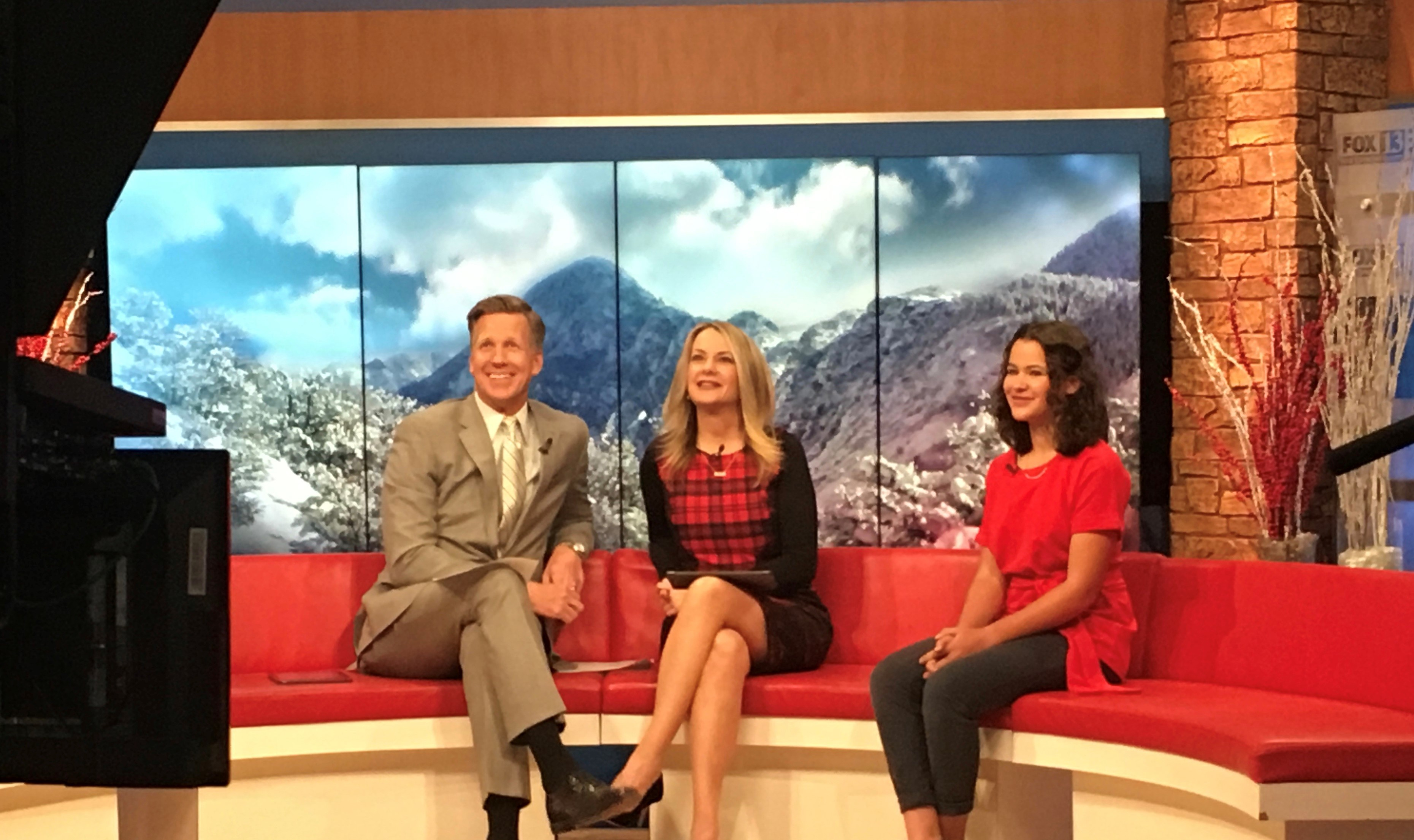 Rembrandt Communications helped teen author with television interview